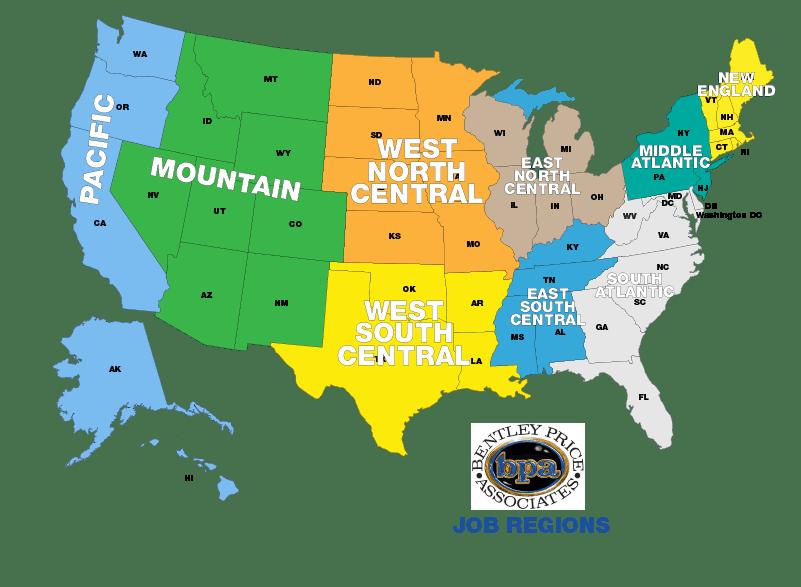 Job Regions Map
