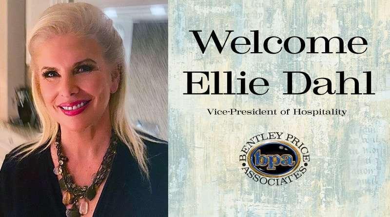 Ellie Dahl Named Vice-President of Hospitality for Bentley Price Associates, Inc.